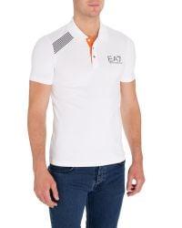 EA7 | White Logo Polo Regular Fit Polo Shirt for Men | Lyst