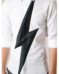 Neil Barrett - Black Lightning Bolt Shirt for Men - Lyst