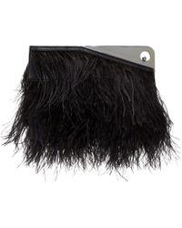 McQ Black Feather Trigger Clutch