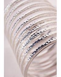 Missguided   Metallic Slinky Bracelet Silver   Lyst