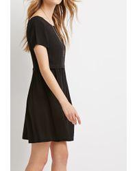 Forever 21 Black Cutout-back Babydoll Dress