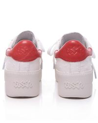 Ash - White Cult Ostrich Look Trainers - Lyst