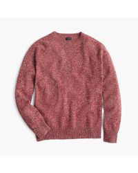 J.Crew - Red Marled Lambswool Sweater for Men - Lyst