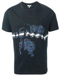 KENZO - Black 'flying Tiger' T-shirt for Men - Lyst