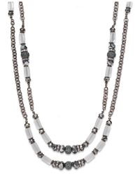 INC International Concepts | Metallic Chocolate-tone Double-row Long Necklace | Lyst