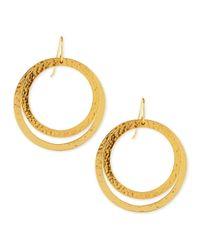 Stephanie Kantis | Metallic Paris Large Round Bronze Earrings | Lyst