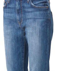 Current/Elliott - Blue The Slouchy Boyfriend Low-Rise Stretch-Denim Jeans - Lyst