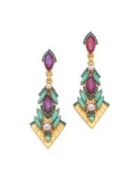 Elizabeth Cole | Multicolor Tara Earrings | Lyst