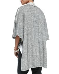 Eileen Fisher Gray Fisher Project Terry Half-sleeve Cape