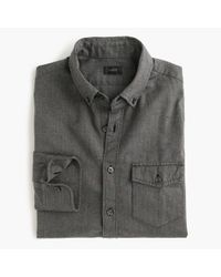 J.Crew | Gray Slim Brushed Twill Shirt In Herringbone for Men | Lyst