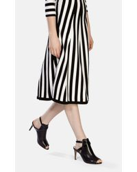 Karen Millen Black Mid Heel Strappy Shoe
