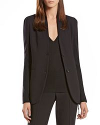 Gucci - Black Wool Knit Insert Jacket - Lyst