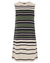 Warehouse Black Stripe Swing Dress