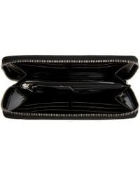 MM6 by Maison Martin Margiela - Black Patent Continental Wallet - Lyst