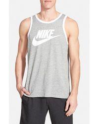 Nike | Gray 'Sportswear Ace' Tank Top for Men | Lyst