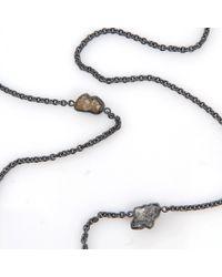 Todd Reed Metallic Raw Diamond Station Necklace