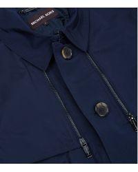Michael Kors Blue Zip Detail Trench Coat for men