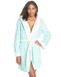 Pj Salvage - Green Fleece Short Robe - Lyst