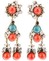 Anton Heunis - Multicolor Crystal Drop Earrings - Lyst