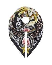 Givenchy Multicolor Floral Print Scarf