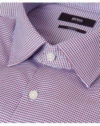 BOSS Red Micro Check Jenno Shirt for men