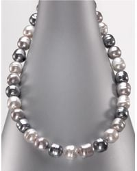 Majorica | Metallic Multi-colored Organic Man-made Pearl Necklace | Lyst