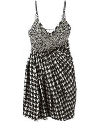 Ermanno Scervino - Black Embellished Houndstooth Dress - Lyst