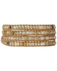 Chan Luu - Metallic 32' African Opal Crystal Wrap Bracelet - Lyst