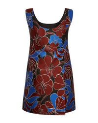 Marni Multicolor Blossom Jacquard Sleeveless Dress