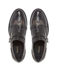 Dune Black Black Felton Leather Brogues