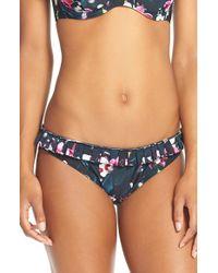 Ted Baker | Blue Pleated Bikini Bottoms | Lyst
