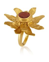 Pippa Small | Metallic 18karat Gold Tourmaline Flower Ring | Lyst