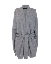 Tibi | Gray Cozy Alpaca Oversized Cardigan | Lyst