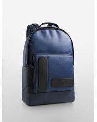 Calvin Klein - Blue White Label Devin Slim Backpack for Men - Lyst