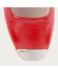 Bally Cece Women ́s Patent Leather Ballerina In Cousteau Red