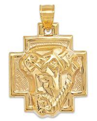 Macy's | Metallic Men's Christ Pendant In 10k Gold for Men | Lyst