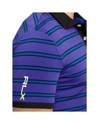 Ralph Lauren | Purple Slim-fit Striped Polo Shirt for Men | Lyst