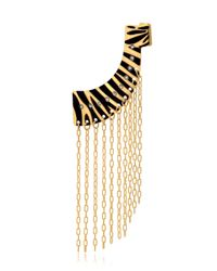 Maria Francesca Pepe | Metallic Jungle Fringe Mono Earring | Lyst
