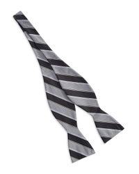 Vince Camuto Black Striped Bow Tie for men