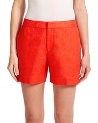 Joie | Red Catia Linen Shorts | Lyst