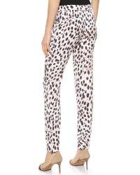Joe's Jeans Multicolor Vivian Silk Pants Cheetah