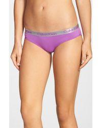 Calvin Klein | Purple 'radiant' Cotton Bikini | Lyst