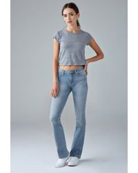 Forever 21 - Blue Mid-rise Bootcut Jeans - Lyst