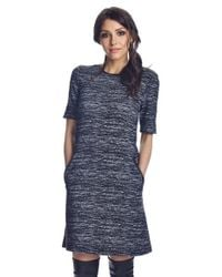 Donna Morgan | Black Jacquard Shift Dress | Lyst