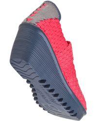 Bernie Mev - Pink Lulia Wedge Coral Fabric - Lyst
