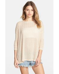 Volcom | Brown 'free To Go' Crewneck Sweater | Lyst