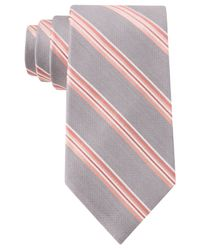 Michael Kors - Pink Michael Satin Stripe Tie for Men - Lyst