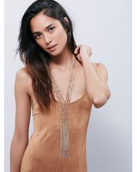 Free People | Natural Womens Goldie Macrame Necklace | Lyst