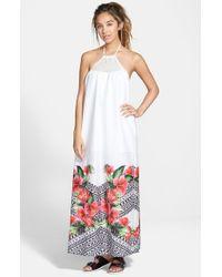 Rip Curl White 'spanish Garden' Maxi Dress