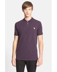 Paul Smith Purple Cotton Pique Polo for men